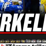 Expressen lehden otsikko pikkuleijonien voitosta: PERKELE!!!