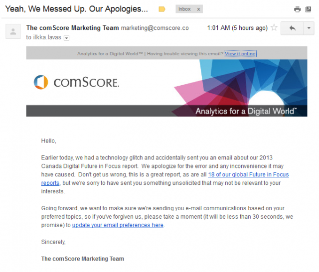 comScore: Yeah, We Messed Up, Our Apologies