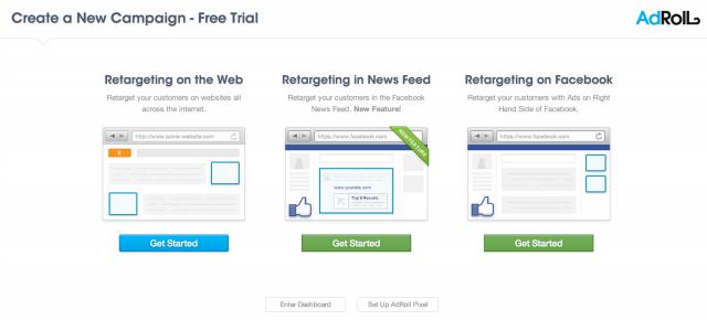 Haluan saada mainostajat kiinni kaikkialta webistä. Sitä varten ostan remarkkinointikampanjan webistä. Voin myös kohdentaa mainoksen Facebookin Newsfeedille tai oikeaan laitaan. Tämän kampanjan haluan pyörimään ympäri nettiä.