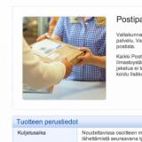 """Posti: """"Postipaketti on tuote, jota jakajalla ei ole koskaan mukanaan"""""""