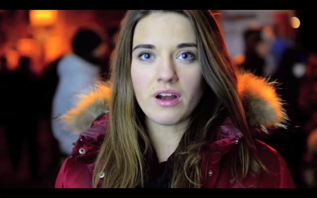 Ukrainalainen tyttö kertoo minkä puolesta he taistelevat.