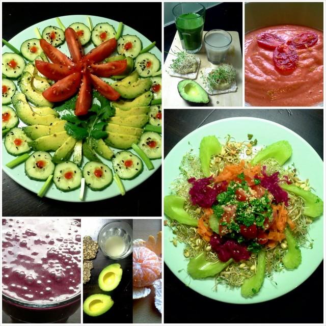 Raakalaisen aterioita viikon varrelta