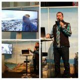 Mandala Travel matkatoimiston Kalle Viira esitteli huikeita reissuvideoita ja kokemuksia.