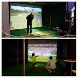 GoExpossa pääsi testaamaan monenlaisia simulaattoreita. Golf ja futis olivat hyvin edustettuna.