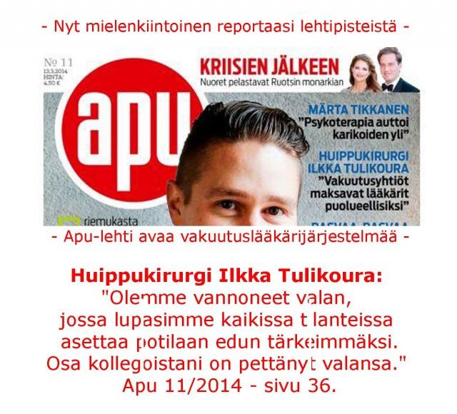 Huippukirurgi Ilkka Tulikouran ulostulo on historiallinen!