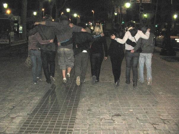 Erasmus-ystävykset Barcelonassa