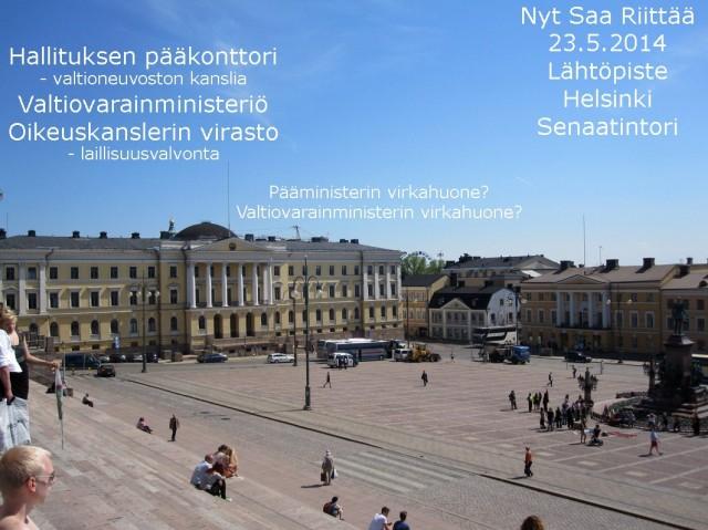 Mielestäni oiva paikka isollekin Nyt Saa Riittää - mielenosoitukselle.