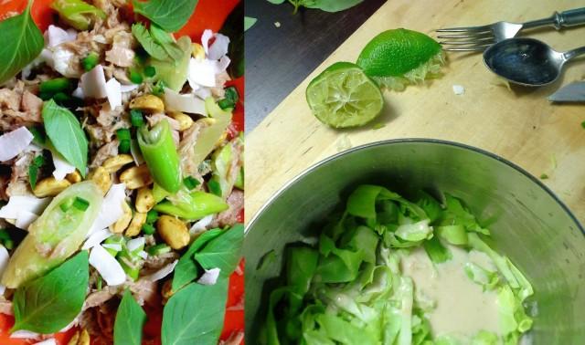 Thai-makuja niin tonnikalassa, kuin kaalissakin
