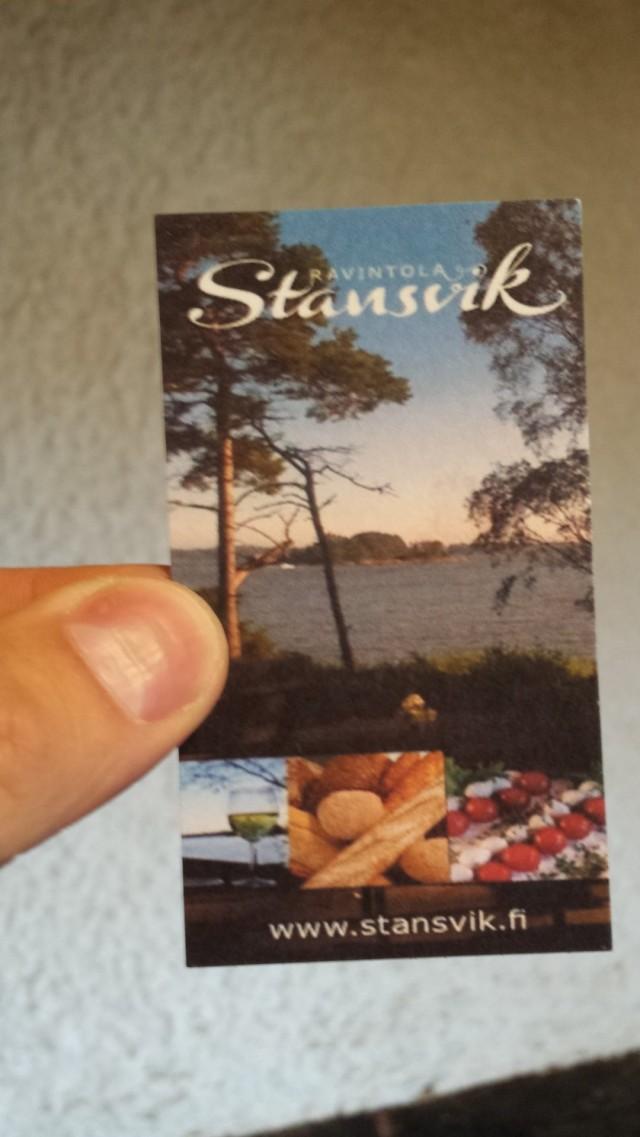 Stansvikissa on ravintola ja sauna.