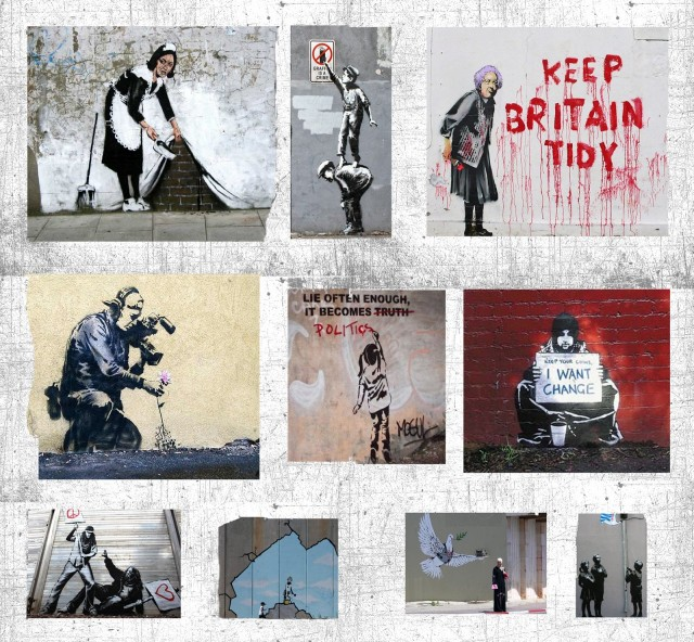 "Banksy breaks ""4th wall"" between 'audience' and 'work of art'"