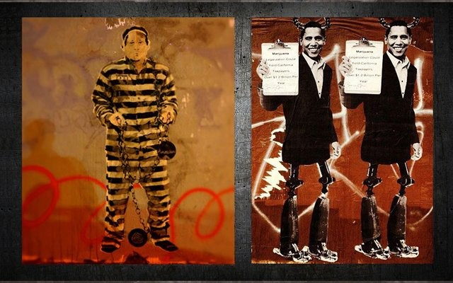 Prisoner 2012, New Orleans (mistaken for Banksy); Obama, La Brea Ave, LA