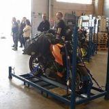 Meidän prätkät lähtivät Milanoon Niinivirta European Cargo Oy:n kyydissä.