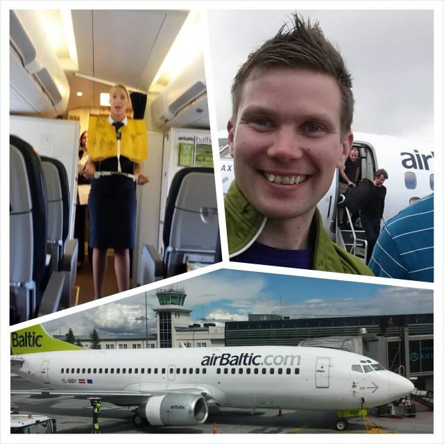 AirBalticin tyytyväinen matkustaja.