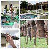 Terme Milanossa voi olla ulkona porealtailla ja ottaa aurinkoa.