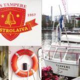 Gastrolaiva M/S Tampere ankkuroituna Laukontorin rantaan
