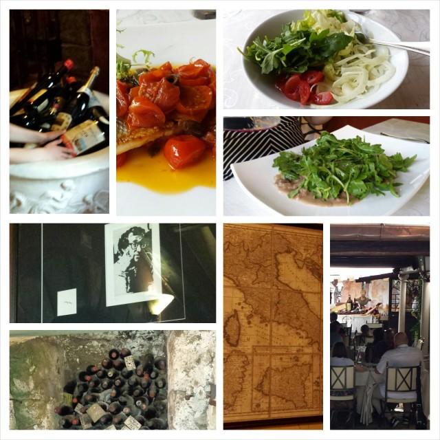 L'Archeologia -ravintola kelpasi aikanaan myös Woody Allenille. Ei mikään erikoinen ravintola mutta ihan ok safkaa kalliilla.