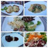 Il Ciocco ravintolassa oli mainiota ruokaa vaikka tarjoilija sekoilikin tilauksissa ja ruokien tuomisen ajoitus oli miten sattuu.