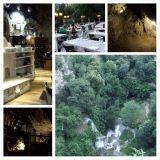 Il Ciocco ravintolasta oli mainiot näkymät putoukselle suoraan alas. Kellarissa oli luolasto.