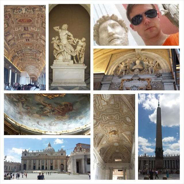 Vatikaani, Sikstuksen kappeli ja Vatikaanin Museo.