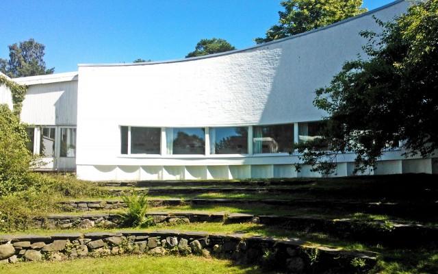 Alvar Aallon ateljee sisäpihalta katsottuna