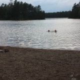 Letturannassa vesi on todella lämpöistä. Järvi on matala eikä ole lähdevesihommeleita.