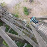 Vierumäen hyppytorni on hieman vaarallisen oloinen, eli juuri sopiva lasten kanssa seikkailuihin.