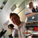 Ilkka Lavas, Anu Hopia ja Sami Kuusela Radio Helsingissä keskustelemassa ruoasta.