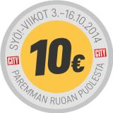 SYÖ! 10 eurolla perjantaista alkaen