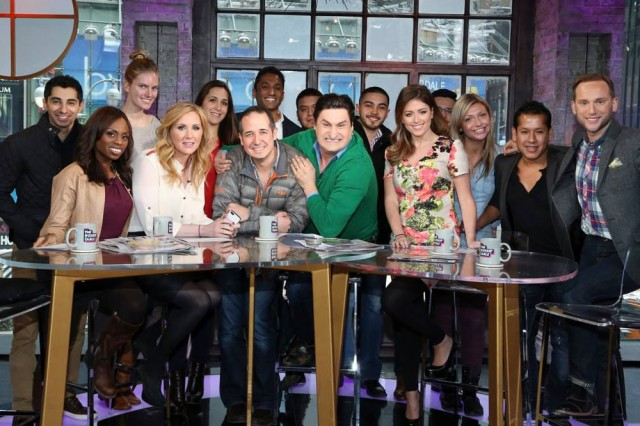 Gossip Table at Times Square VH1 studio with entire show crew