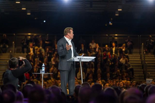 Arnold Schwarzenegger Nordic Business Forumissa 2014
