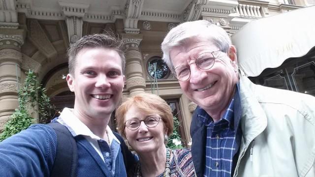 Ilkka Lavas, Peter Cuneo sekä Peterin vaimo Maris.