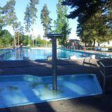 Kesäisin treenaan paljon maauimalassa. Aamuisin siellä saa uida ihan yksin.