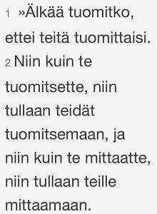 Matt. 7:1-2