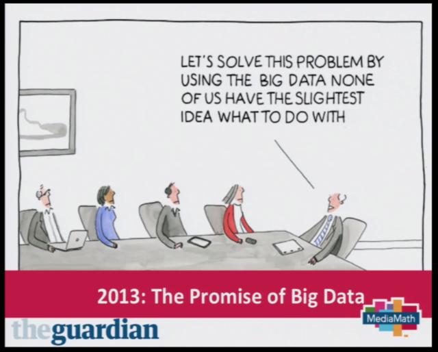Big Data on kuin teinien seksikokemukset: Kaikki tekevät sitä, joten meidänkin täytyy - kertoo theguardian -lehti. Kuva IAB Real Time Advertising seminaarista (YouTube)