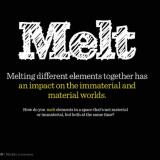 Melt -kirja sulattaa materiaalisen ja immateriaalisen maailman yhteen