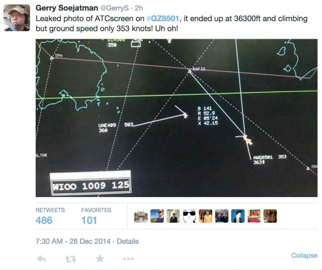 #QZ8501 lennosta kiertää kaikenlaisia huhuja. Lähdekritiikki esim Twitterissä on lähes olematonta.