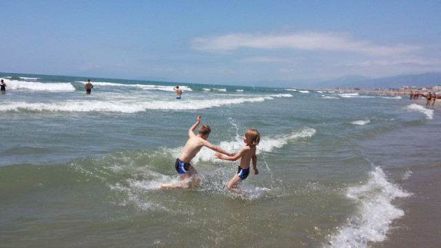 Riminillä Italiassa oli kiva viettää aikaa perheen kanssa.