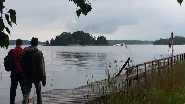 Kuva Stansvikista W3 Group Finland Oy:n kesäpäivältä. Liikkumisen lisäksi sosiaalinen yhdessäolo on tärkeää.