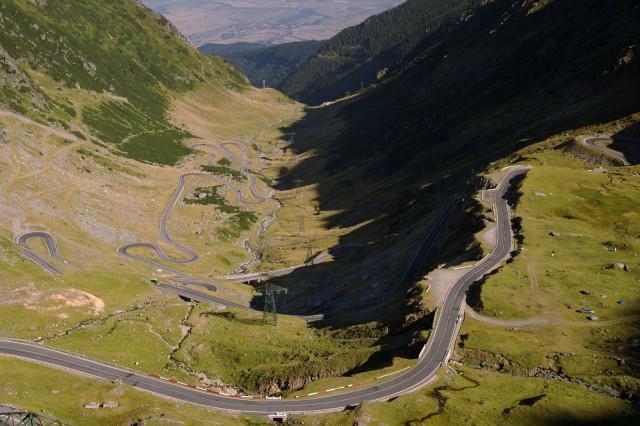 Transfăgărășan north, Romania, maailman upein autotie.