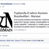 Marmai julkaisi uutisen: Tuplanolla.fi tahtoo Suomen Buzzfeediksi