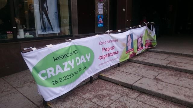 Kerava Crazy Day pidettiin tyhjilleen jääneessä Anttilan kiinteistössä.