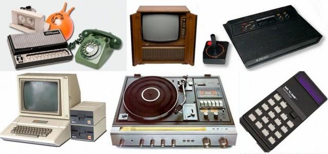 Tulevaisuus on nyt. Tässä 1970-luvun keksintöjä, jotka on siirtyneet meidän taskussa kannettavaan supertietokoneeseen (kuva: cc by nd Paul Townsend)