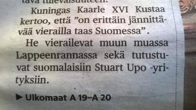 Stuart Upo -sijoittaminen on hip ja pop :D