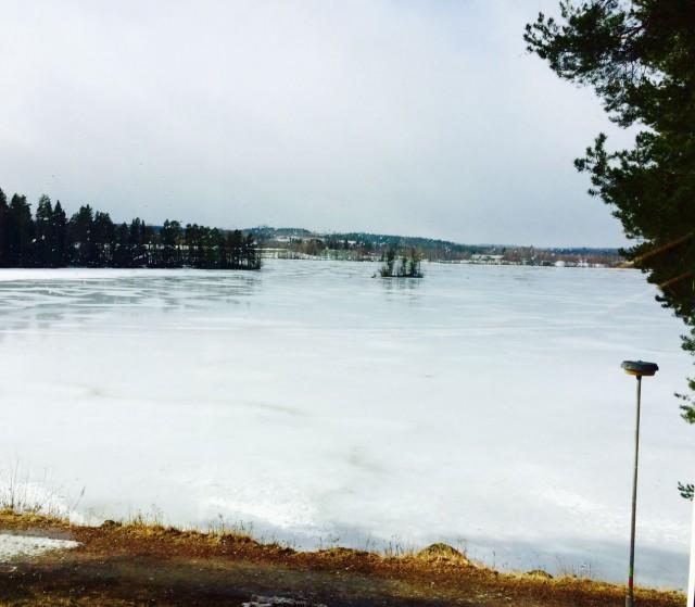 Kaunis näkymä hotellilta järvelle.