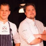 Kahdessa kanassa on yhä tuplasti munaa! Kuvassa ravintoloitsijat Martin Granberg ja Sten Selin.