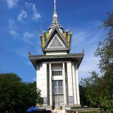 Stupa, joka on pystytetty uhrien muistolle.