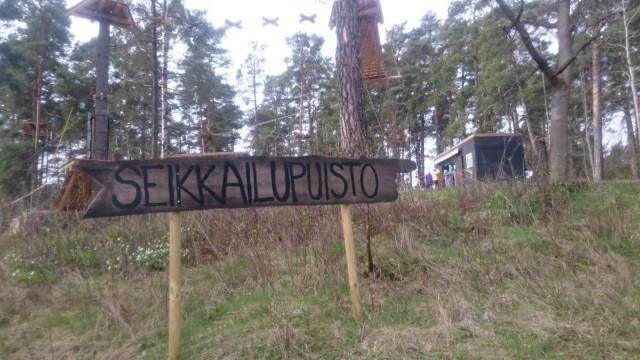 Seikkailupuisto Korkee Helsinki Mustikkamaa