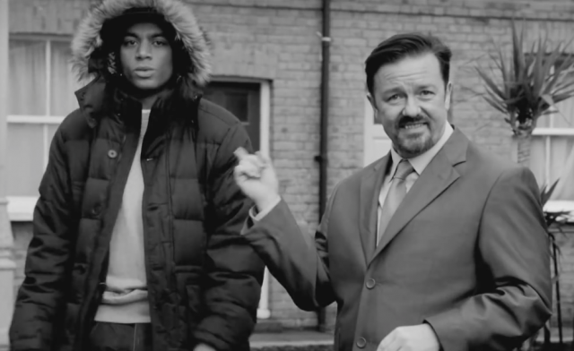 Doc Brown ja Ricky Gervais Tasa-arvon tiellä.