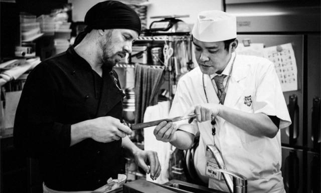 Jesper Björkell ja japanilainen chef Katsunori Ikeda / Kuva: Tuukka Ervasti