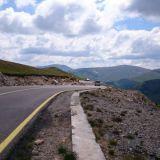 Transalpina, Romania. Hyväkuntoinen tie.